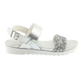 Sandálias de prata confortáveis Filippo 685 cinza