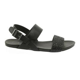 Sandálias pretas confortáveis Filippo 685 brocade preto