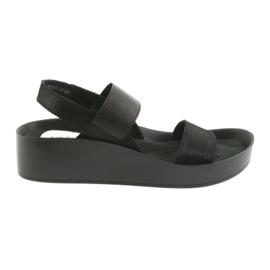 Filippo 767 perfilado sandálias pretas preto