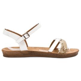 Seastar Sandálias planas na moda branco