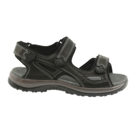 Sandálias de velcro luz EVA DK preto