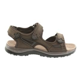 Sandálias de velcro luz EVA DK fundo marrom