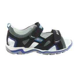 Sandálias dos meninos nabos Bartek cinza-marinho