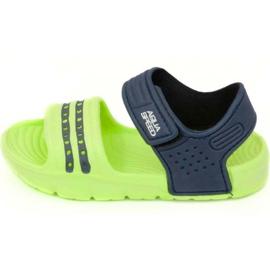 Sandálias Aqua-speed Noli verde azul marinho col .84