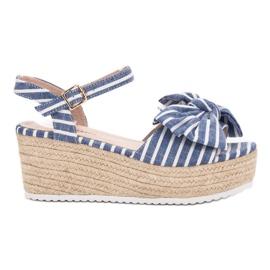 Seastar Sandálias de cunha com arco azul