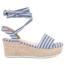Seastar azul Sandálias Com Cintos De Cunha