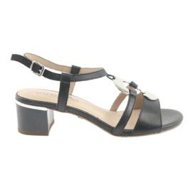 Sandálias com enfeite Caprice 28211 azul marinho