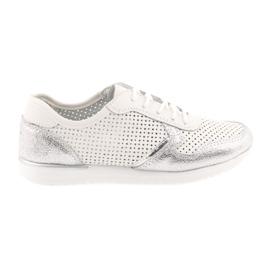Filippo 737 calçados esportivos femininos branco e prata