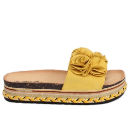 Chinelos femininos amarelo S61 Amarelo