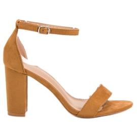 Anesia Paris marrom Sandálias de Camelo Sexy