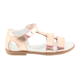 Sandálias das meninas, ouro rosa, Bartek 56016