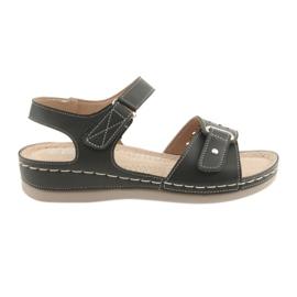 Sandálias para mulheres conforto DK 25131 preto