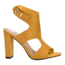 Ideal Shoes amarelo Saltos altos sexy