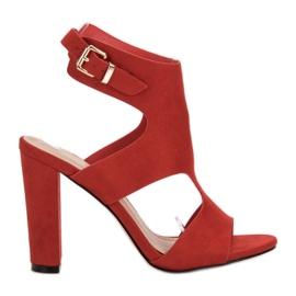 Ideal Shoes vermelho Saltos altos sexy