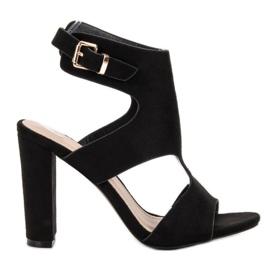 Ideal Shoes preto Saltos altos sexy