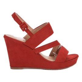 SHELOVET Sandálias Na Cunha vermelho