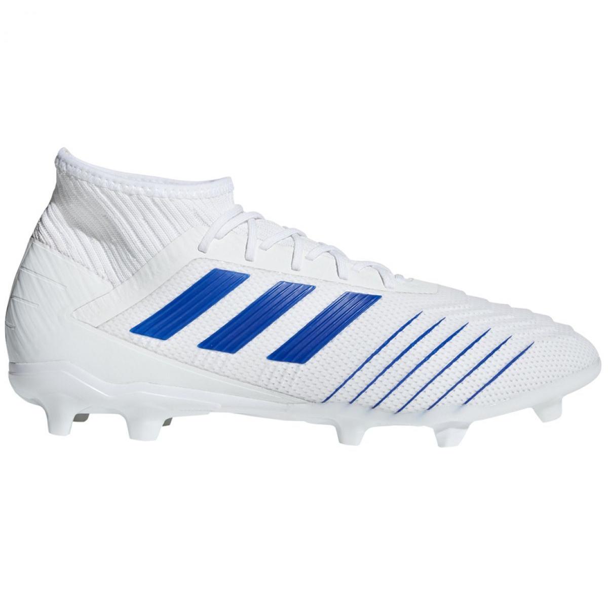 Chuteiras de futebol adidas Predator 19.2 Fg M D97941 branco branco, azul