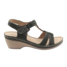 Sandálias das mulheres confortáveis DK preto