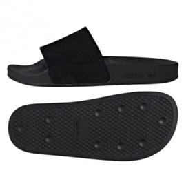 Preto Adidas Originals Adilette chinelos W DA9017
