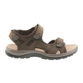 Sandálias DK Brown Velcro light EVA marrom