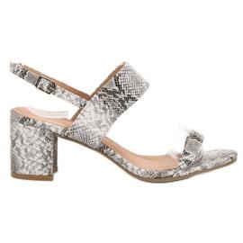 Ideal Shoes cinza Sandálias das mulheres na moda