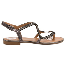 Small Swan Sandálias japonesas cinza