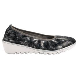 Filippo azul Sapatos de balé de couro da Marinha