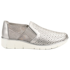 Filippo cinza Sapatos Slip On Silver