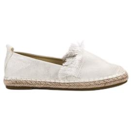 Lily Shoes branco Alpercatas com franjas