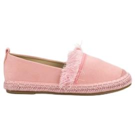 Lily Shoes -de-rosa Alpercatas com franjas