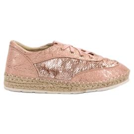 Sapatos com lantejoulas VICES -de-rosa
