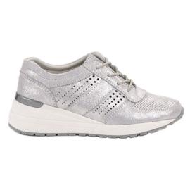 Cinza Sapatos de couro VINCEZA