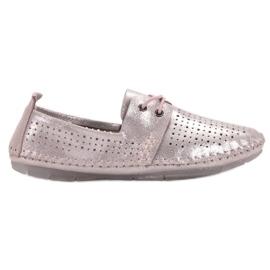 Sapatos de couro VINCEZA -de-rosa