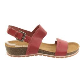 Big Star vermelho Sandálias das mulheres vermelhas grandes 274A016