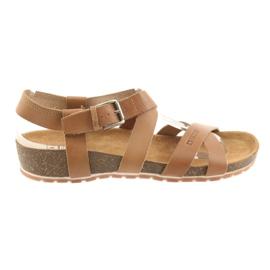 Marrom Sapatos de camelo Big Star Mulher 274A010