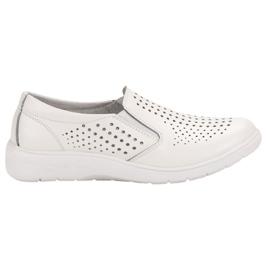 Kylie Sapatos de couro branco