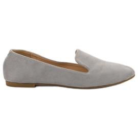 Lily Shoes Lordes de camurça cinza