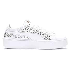 Branco Puma Vikky Stacked Laser Cut 369378 02 sapatos