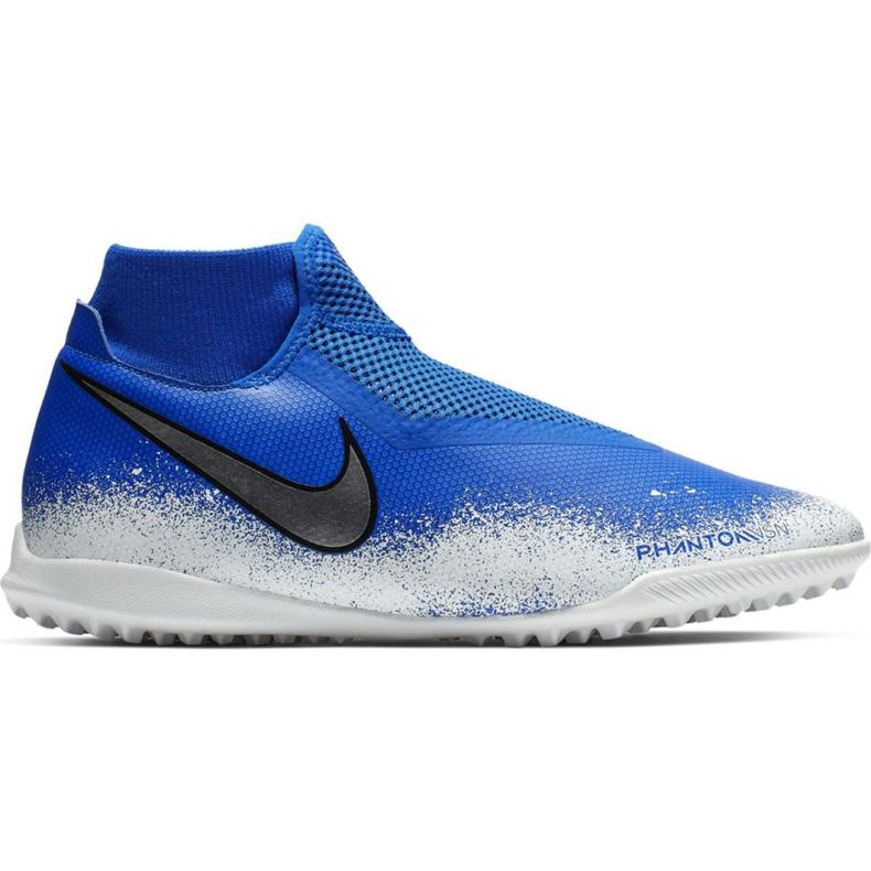 Sapatos de futebol Nike Phantom Vsn Academia Df Tf M AO3269-410 branco, azul azul