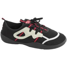 Sapatos de praia Aqua-speed preto cinza-vermelho 19A