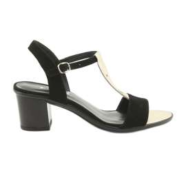 Sandálias para mulheres Anabelle 1447 black / gold