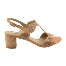 Sandálias das mulheres caramelo / pantera Anabelle 1352 marrom
