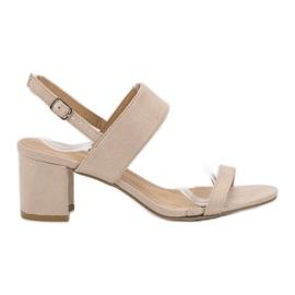 Ideal Shoes marrom Sandálias das mulheres na moda