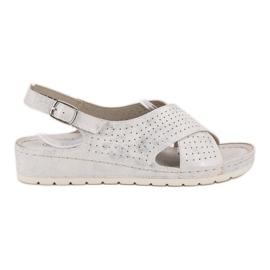 Goodin Sandálias na plataforma branco