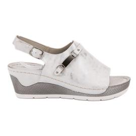 Goodin branco Sandálias confortáveis de cunha