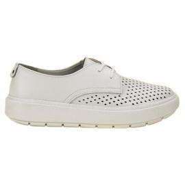 Goodin Sapatos de couro leve branco