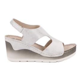 Goodin Sandálias confortáveis de cunha branco
