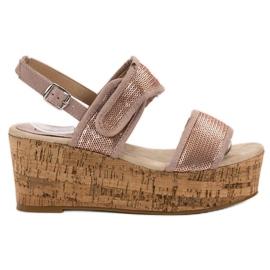 Kylie -de-rosa Sandálias com Velcro