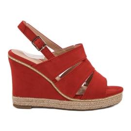 Primavera vermelho Sandálias Vermelhas
