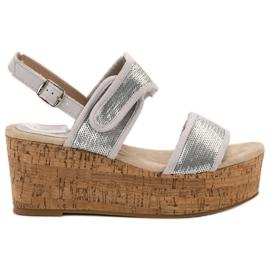 Kylie cinza Sandálias com velcro